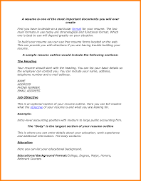 5 Resume Outline Examples Forklift Resume