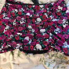 Torrid Size 4 Rose And Skull Swim Skirt Nwt Nwt