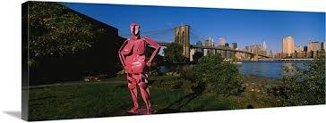 pink brooklyn bridge wall art