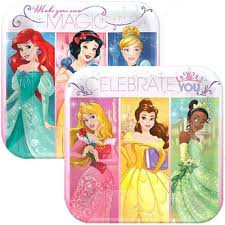 Disney Princess Dream Big Square Dessert Plates (8) Party Supplies