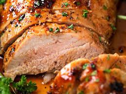 ginger honey roasted pork tenderloin