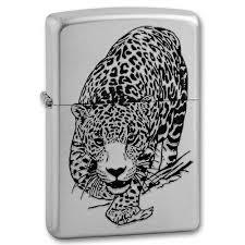 <b>Зажигалка Leopard</b> с покр. Satin Chrome серебристая <b>Zippo 205</b> ...