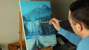 the road home a timelapse acrylic winter landscape painting by tim gagnon you