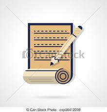 essay writing flat color design vector icon unfolded paper  essay writing flat color design vector icon