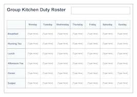 Monthly Duty Roster Template Co Camping For Resume 2018