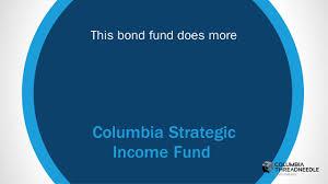 columbia strategic income fund fact sheet cosix columbia strategic income fund columbia threadneedle