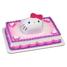 Hello Kitty Cake Topper With Surprise Toy Set