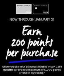 banana republic visa card 5x points