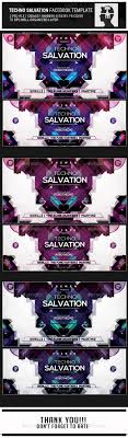 techno salvation facebook banner cover template