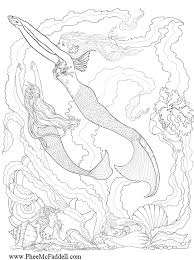 Mermaid Coloring Get Coloring Pages