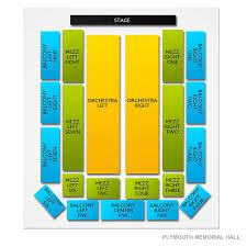 Plymouth Memorial Hall 2019 Seating Chart