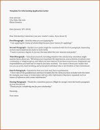 Luxury Application Letter Sample For Scholarship Type Of Resume