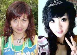 before and after makeup asian s
