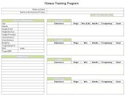 Fitness Training Schedule Template