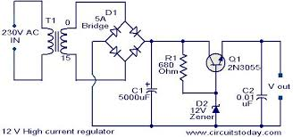 v high current regulator electronic circuits and diagram 12 v high current regulator circuit jpg