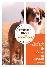Pet Poster Kimberly Mak Portfolio Pet Adoption Drive Poster Template 24 10
