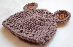 Baby Beanie Crochet Pattern Simple Newborn Bear Hat Crochet Pattern Crochet Baby Bear Hat