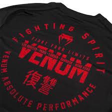 Venum Signature Dry Tech T Shirt Black Red