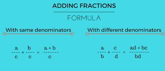 adding fractions calculator formula