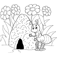 Small Picture Printable Pictures Of Ants Coloring Coloring Pages