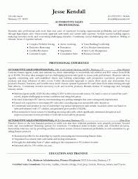 Sales Resume Examples 2016 Car Salesperson Automotive Write A ...