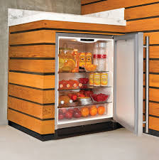 Refrigerator Outdoor Furniture Panel Wooden Outdoor Mini Refrigerator Cabinet Under