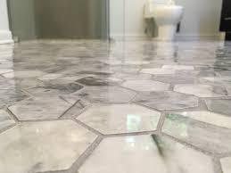 hexigon carrara marble tile