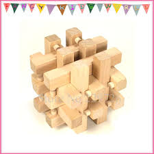 18 piece burr puzzle wooden interlocking brain toy for kids and s free