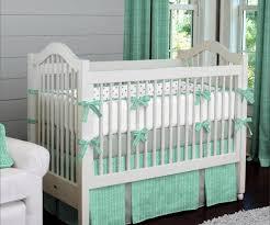 image of baby girl modern crib bedding