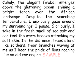 descriptive writing example theme of africa by goughr  descriptive writing example theme of africa by goughr1 teaching resources tes