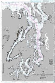 British Admiralty Nautical Chart 1947 United States West Coast Washington Admiralty Inlet And Puget Sound