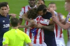 Stoke City's Joe Allen denies Derby rival Bradley Johnson bit him during  Championship clash