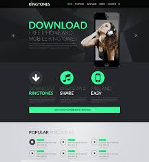 Music Website Templates Enchanting Mp28 Website Template Ipicli