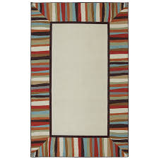 mohawk home patio border ivory rectangular area rug common 5 x 8
