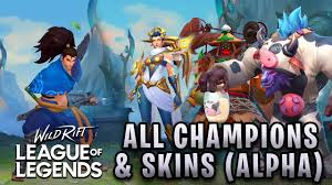 League of Legends: Wild Rift ALL 36 CHAMPIONS & SKINS CONFIRMED FOR ALPHA