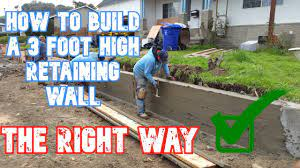 how to build a retaining wall start to