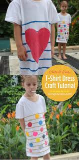 how to make a diy t shirt dress easy craft tutorial for kids
