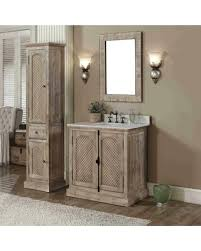 Image Double Sink Rustic Style Quartz White Marble Top 36inch Bathroom Vanity With Matching Wall Mirror And People Hot Sale Rustic Style Quartz White Marble Top 36inch Bathroom