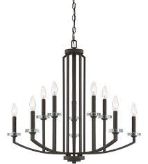 quoizel tns5010oz transit 10 light 30 inch old bronze chandelier ceiling light