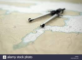 Southeast Alaska Chart Divider Caliper Also Known As A Compass On A Nautical