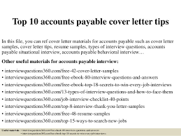 Top 10 accounts payable cover letter tips In this file, you can ref cover  letter ...