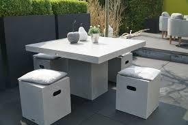 Modernes Möbelset Cube Beton Gartenmöbel Wohnmöbel