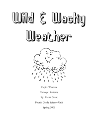 Fourth grade worksample -weather unit