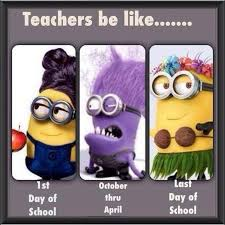 The difference between teachers at the start and end of a term! Ha ...