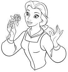 Belle Coloring Pages For Kids With Beauty And The Beast Belle