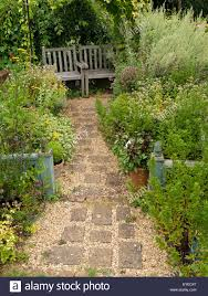 Small Picture Small English cottage garden with paved and gravel path borders