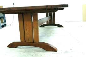 mission round dining table tables mean no one is in a corner and have smaller style