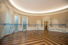 west wing oval office. The Hardwood Floor Of Oval Office Is Resurfaced As West Wing White House In Washington Undergoes Renovations While President Donald Trump