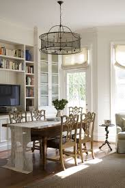 dc metro white lamp shade with black trim dining room traditional drum chandelier pantry cabinets glass front