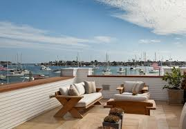 Roof deck furniture Wooden Beach House Rooftop Rooftop Ideas Rooftop Flooring Rooftop Furniture Rooftop Breathbodysoulcom Balboa Island Beach House With Coastal Interiors Home Bunch